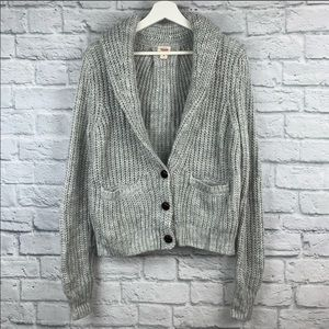 ❄️Mossimo Wool Blend Cable Knit Collard Cardigan L